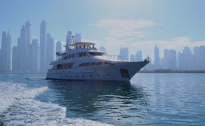 Superyacht DXB available for Abu Dhabi Grand Prix yacht charter