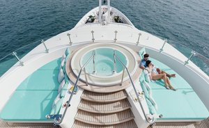 Superyacht 'Ramble on Rose' hits the water following refit