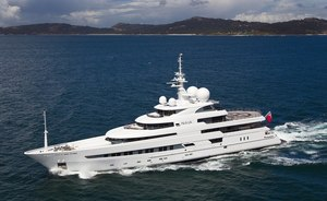 74m motor yacht NAIA offers 5% discount for yacht charters booked in first half of July