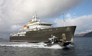 77m explorer yacht YERSIN joins the charter fleet