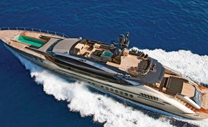 Caribbean charter special: last-minute availability for 52m  motor yacht DB9