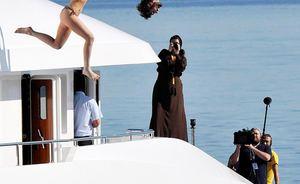 Kardashians Greece Yachting Vacation on O'Ceanos Charter Yacht
