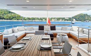 Enjoy a reduced rate Mediterranean yacht charter on board superyacht Y4H