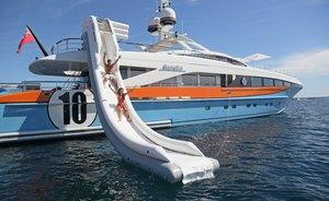 Discount on Italy yacht charters announced on luxury yacht AURELIA