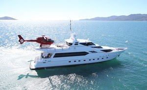 Superyacht 'Flying Fish' Offers Helicopter Access For Great Barrier Reef Charter Vacations