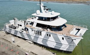 Video: Superyacht 'The Beast' hits the water in New Zealand