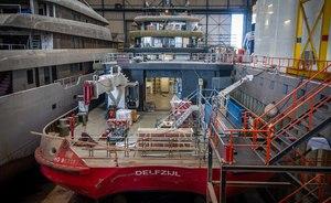 Explorer yacht RAGNAR takes shape at Icon Yachts