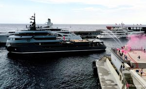 Explorer yacht RAGNAR receives prestigious fire brigade salute at Monaco Yacht Club