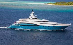 85m superyacht SUNRAYS available for winter charter in the Indian Ocean