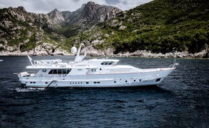 Last chance to charter 31m motor yacht VESPUCCI in the Mediterranean
