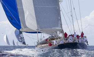 Sailing yachts get ready for the Superyacht Challenge Antigua 2019
