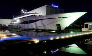 75m Feadship charter yacht ARROW makes a splash