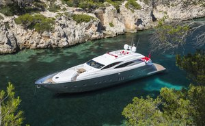 Ibiza yacht charters available with luxury yacht 'Tiger Lily of London'