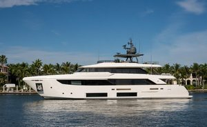 Freshly refitted 33m Ferretti luxury yacht GIOIA joins Florida and Bahamas charter fleet