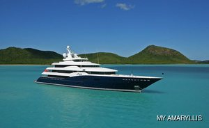 Unique opportunity to charter 78.5m luxury yacht AMARYLLIS in the UK and Channel Islands this summer.