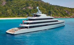 84m hybrid yacht SAVANNAH: rare yacht charter availability for summer