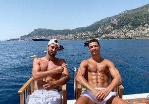 Cristiano Ronaldo shares snaps of his yacht charter vacation
