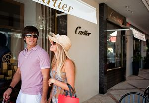 Explore the designer boutiques of St Barts on a yacht charter