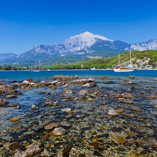 Secluded Beach in Phaselis, Antalya