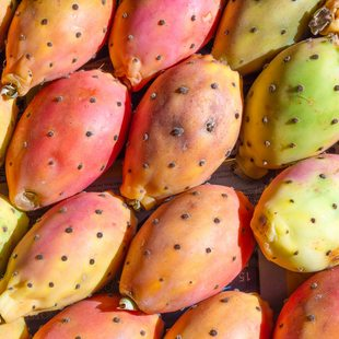 Exotic, colourful fruits