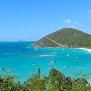 The north-shore beaches of the US Virgin Islands