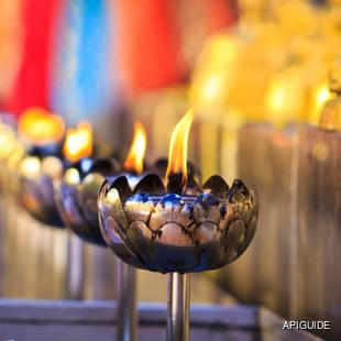 Beautiful Indian oil lamps