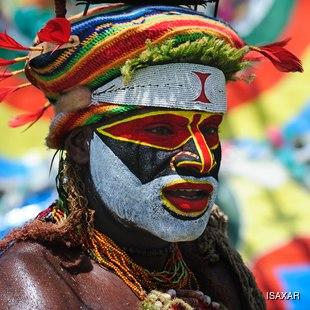 Papua New Guinea tribal man