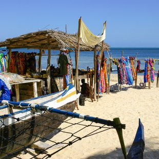 Primitive souvenir shop on the beach