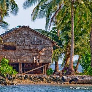 Traditional Solomon Islands hut