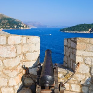 Cannon in Dubrovnik, Croatia