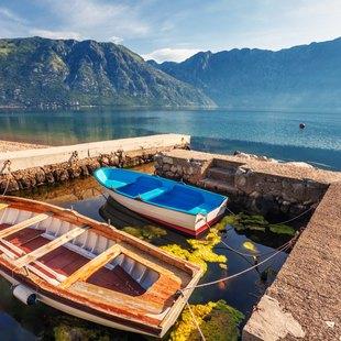 Colourful Fishing Boats off the Coast of Kotor