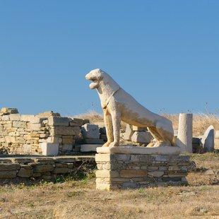 Lions Terrace on the Greek Island of Delos