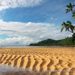 Sandy dunes on Fijian beach