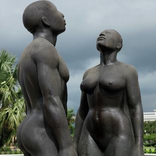 Redemption Song monument in Jamaica