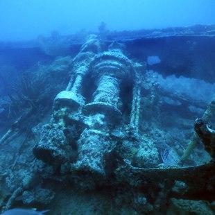 WWII shipwreck in the Solomon Islands