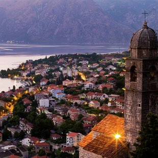 View from Our Lady of Health Church of the Bay of Kotor
