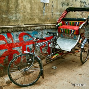 Cycle rickshaw - Indian transport