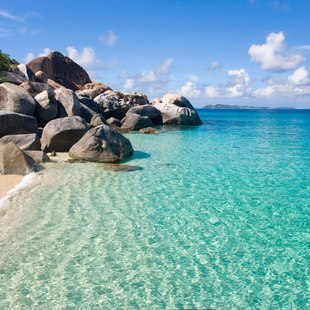 Take a bath at Virgin Gorda