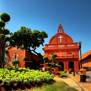 The road leading to the christ church in Malaysia