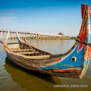 Boat by Ubein bridge