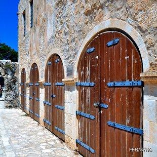 Doors of the Fortetza in Rethymno, Crete