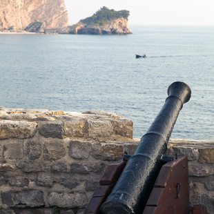 Medieval Canons Pointing Out to Sea