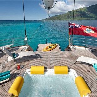 Sailing Yacht in Tahiti