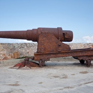 Old cannon on the ruins of Cuba's forts