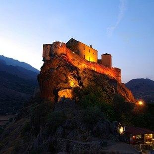 Illuminated Mountain Town of Corte