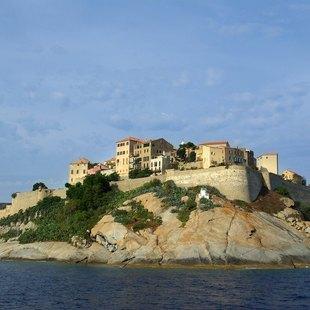 Bay of Calvi Overlooking the Mediterranean Waters