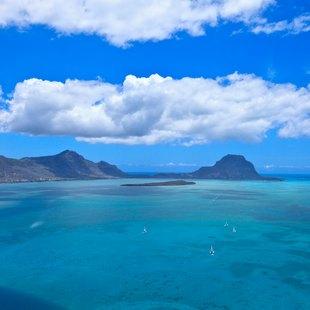 View on Mauritius coast and surrounding sea