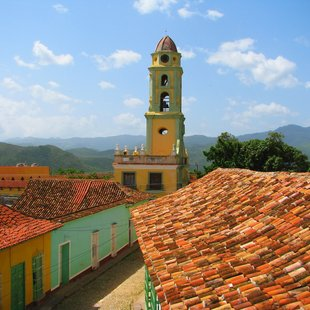 Colourful buildings in Cuba