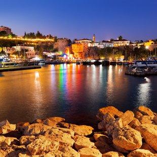 Port of Antalya at Night