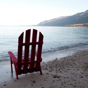 Outdoor chair on the beach